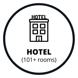 Hotel with 101 or more rooms